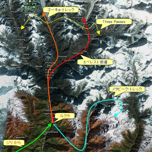 エベレスト街道コースマップ